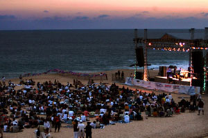 Sunset at the Cabo Jazz Festival